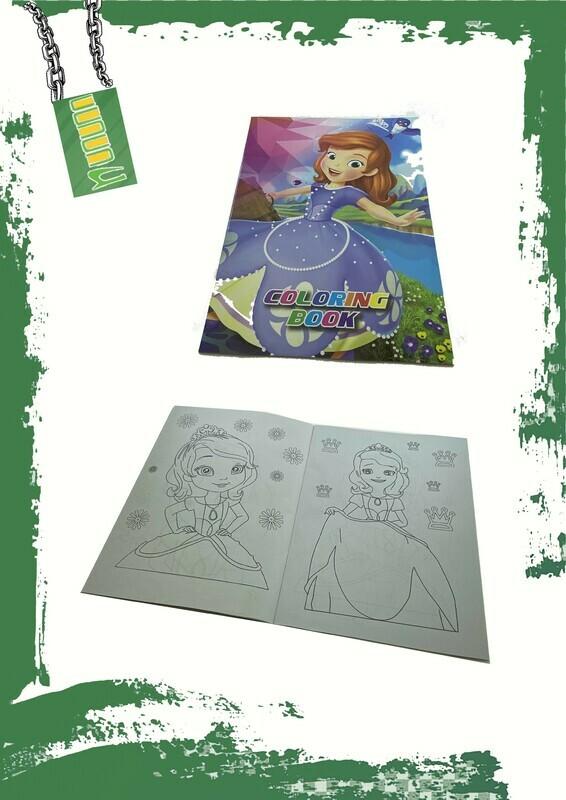 Coloring book + stickers - كتاب تلوين + ستيكر