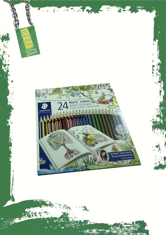Staedtler Pencil colors 24 set - 24 لون خشب استدلر طويل