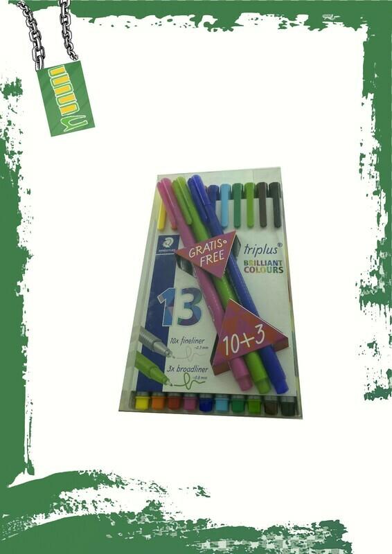 STAEDTLER Triplus fineliner 10+3 - طقم أقلام سن ريشة استدلر 13 لون