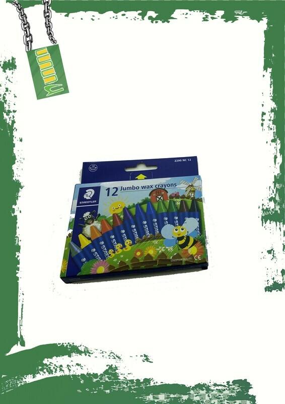 STAEDTLER Jumbo wax crayons 24 colors - 24 لون شمع جامبو استدلر