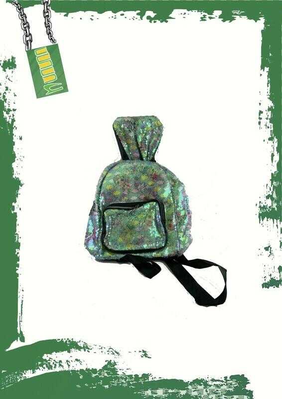 Rabbit glitter backpack - شنطه ظهر شكل أرنب