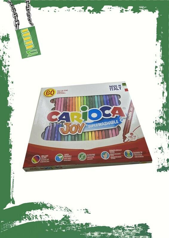 Carioca 60 color set thin tip - طقم 60 لون كاريوكا سن رفيع