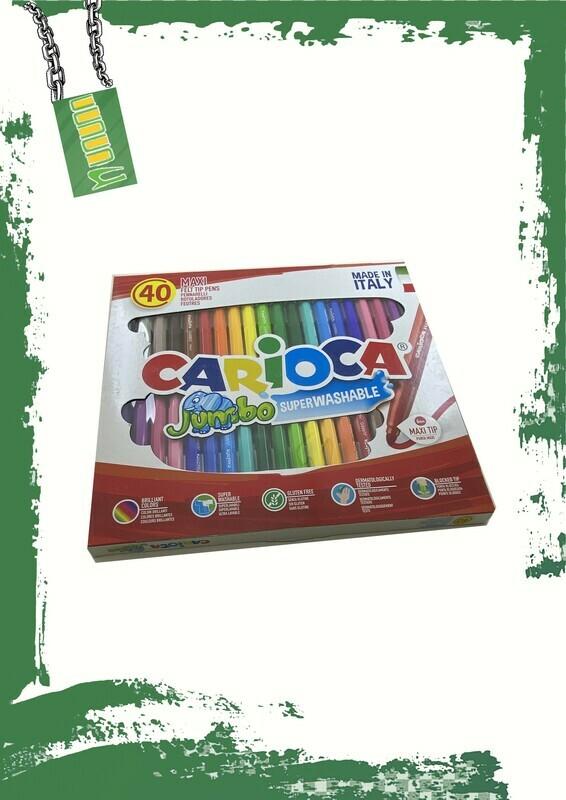 Carioca 40 jumbo colors set - طقم 40 لون جامبو كاريوكا