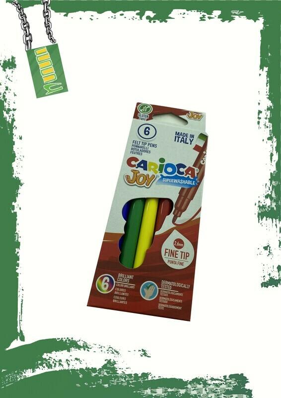 Carioca 6 marker colors set - طقم 6 ألوان فلوماستر كاريوكا