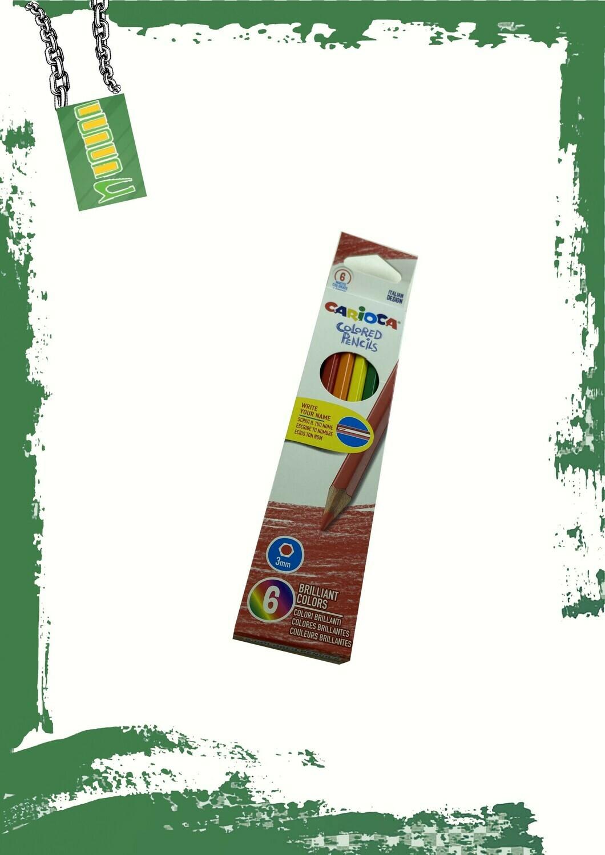 Carioca 6 pencil colors set - طقم 6 الوان خشب كاريوكا