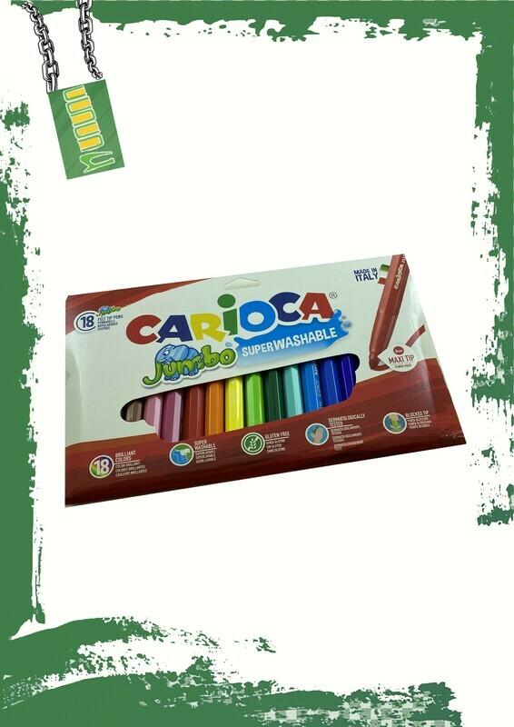 Carioca 18 jumbo colors set - طقم 18 لون جامبو كاريوكا