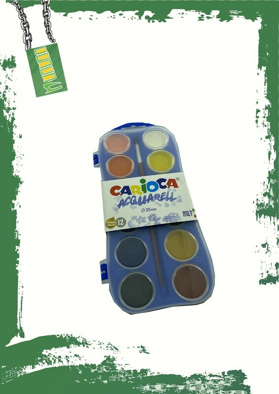Carioca 12 water colors set - طقم 12 لون مياه كاريوكا