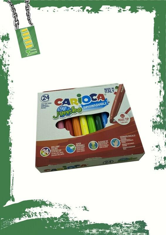Carioca 24 jumbo marker colors set - 24 لون جامبو فلوماستر كاريوكا