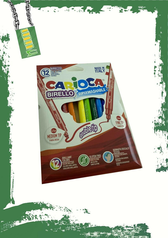 Carioca 12 marker set (thin tip) - 12 لون كاريوكا رفيع
