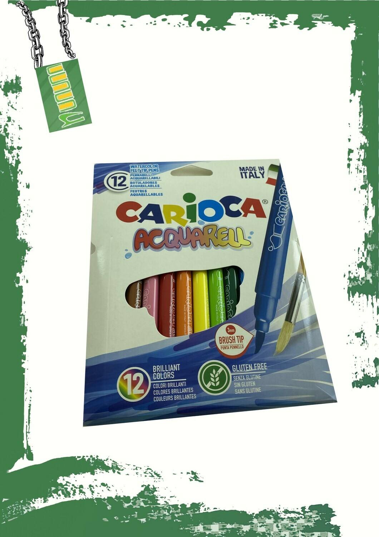 Carioca 12 quarrel marker colors - 12 لون فلوماستر مائي