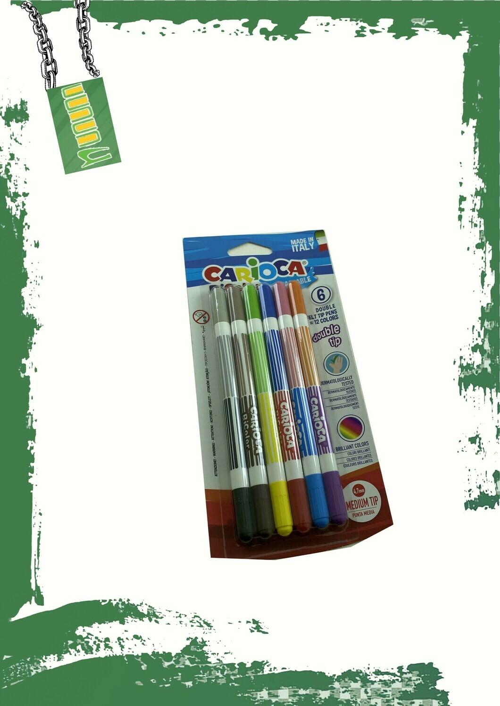 Carioca 12 marker double tip set - كاريوكا 12 لون بسنين