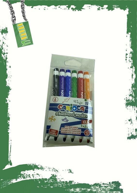 Carioca 6 whiteboard markers - كاريوكا 6 أقلام سبورة