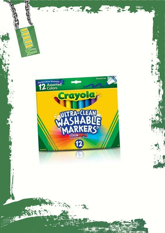 Crayola 12 marker colors - كرايولا 12 لون فلوماستر