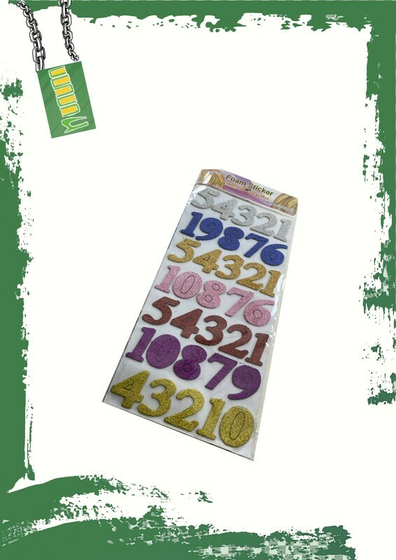 Foam glitter English numbers - أرقام انجليزيه فوم جليتر