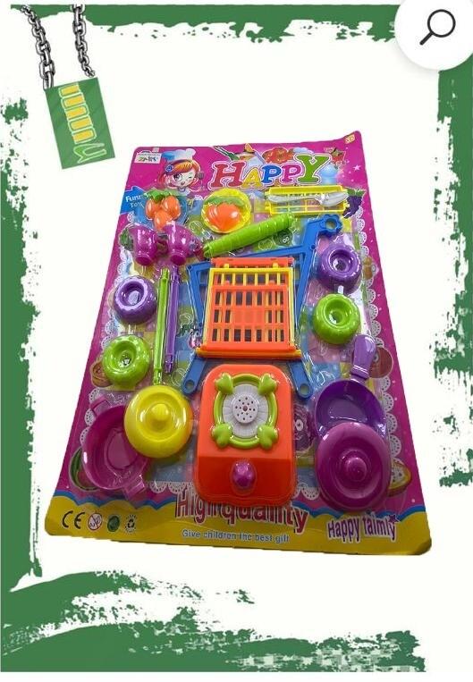 Shopping kart + Kitchen set - لعبه عربه تسوق + طقم مطبخ