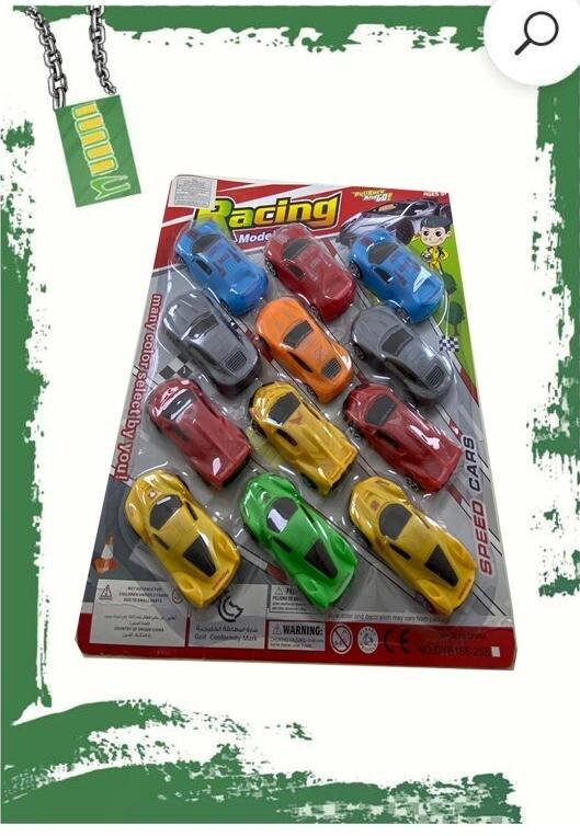 Small racing cars set - طقم 12 سياره سباق صغيره على كارت