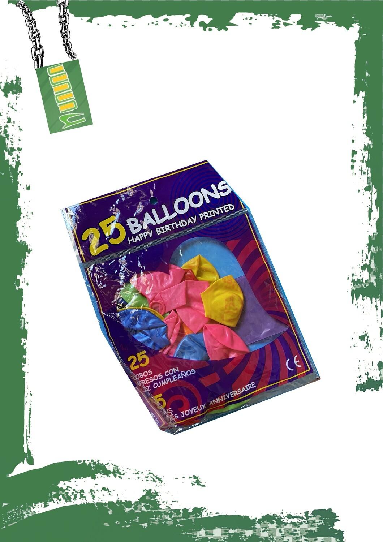 كيس بالونات 25 بالونه مشكله
