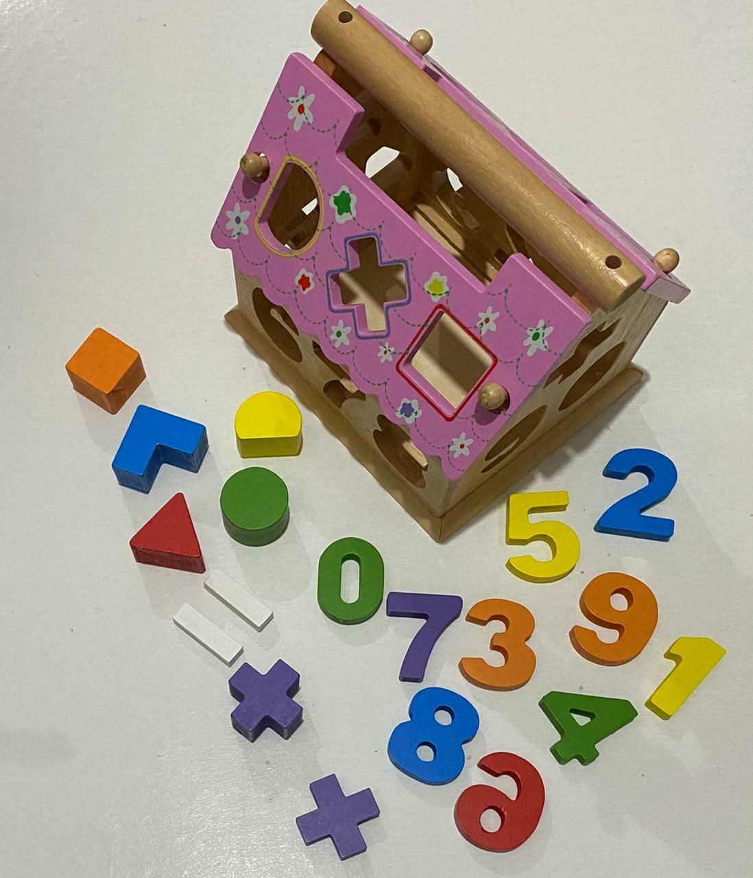 بيت خشب تعليمي - أرقام و أشكال