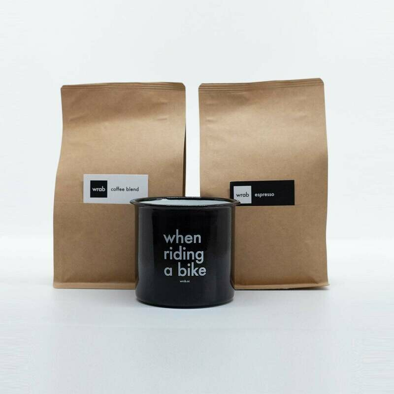 Wrab coffee sample pack with gravel mug