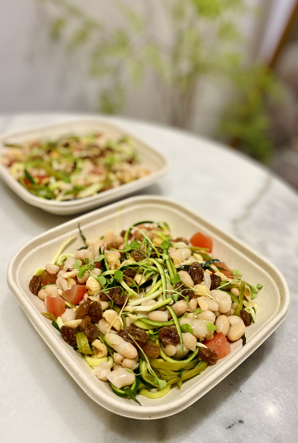 Julienne Courgette & Bean Salad (Express)
