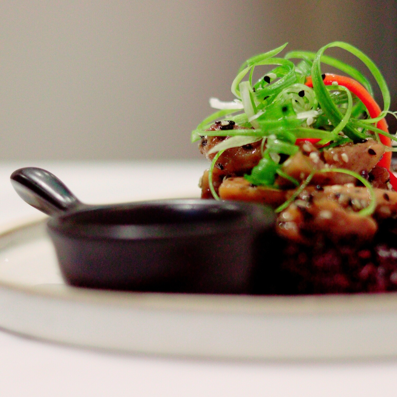 Teriyaki Chicken, Toasted Sesame, Black Rice