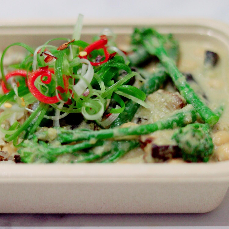 Thai Green Curry, Brown & Wild rice, Sesame Seeds & Spring Onion