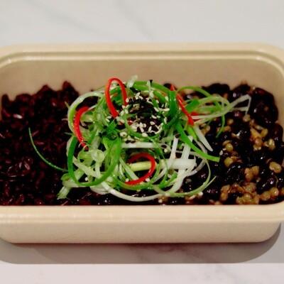Black Bean Teriyaki, Spring Onion & Toasted Sesame Seeds