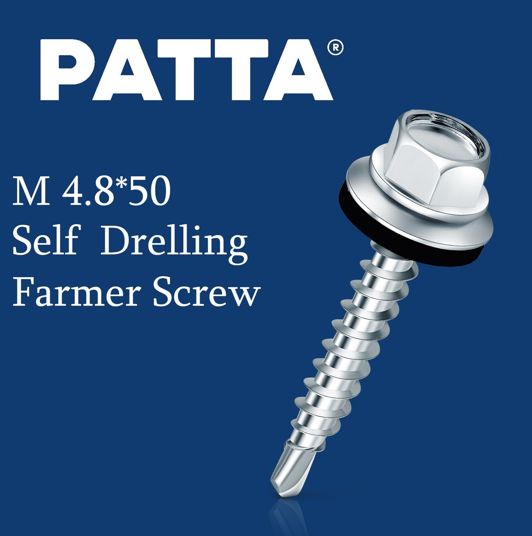PATTA Պտուտակ տանիքի ցինկ M4.8*50