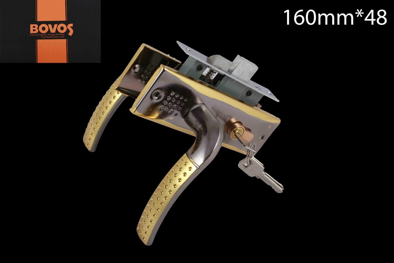Դռան փականի կոմպլեկտ 3-F611-L96 BN/GP բանալիով (փո