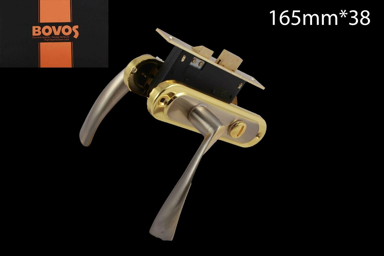 Դռան փականի կոմպլեկտ 62-F10-L93 BK SN/GP BOVOS 4+1