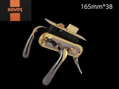 Դռան փականի կոմպլեկտ 62-F10-LK6 BN/GP բանալիով BOV