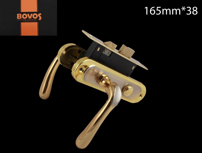 Դռան փականի կոմպլեկտ 62-F10-LK6 BK SN/GP BOVOS 4+1