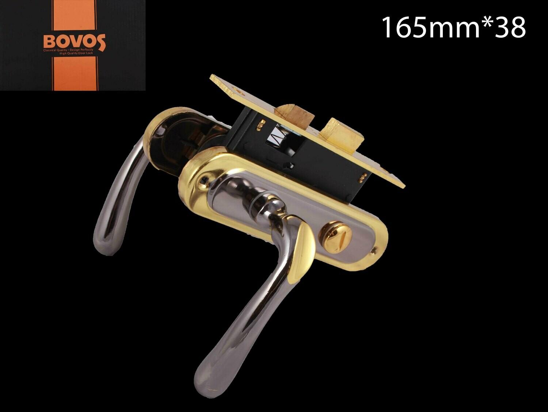 Դռան փականի կոմպլեկտ 62-F10-LK6 BK BN/GP BOVOS 4+1
