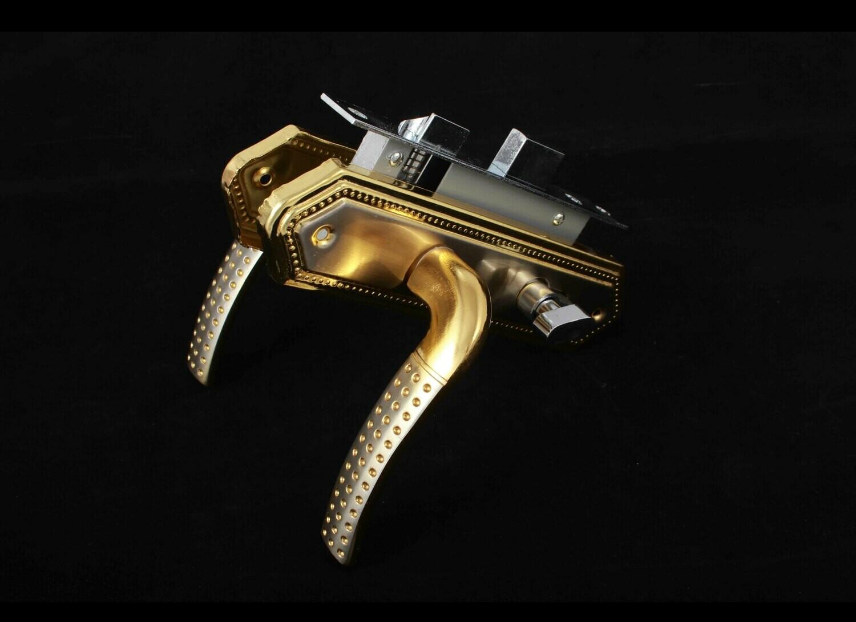 Դռան փականի կոմպլեկտ Aksel (ոսկեգույն) AK 58-45 GP