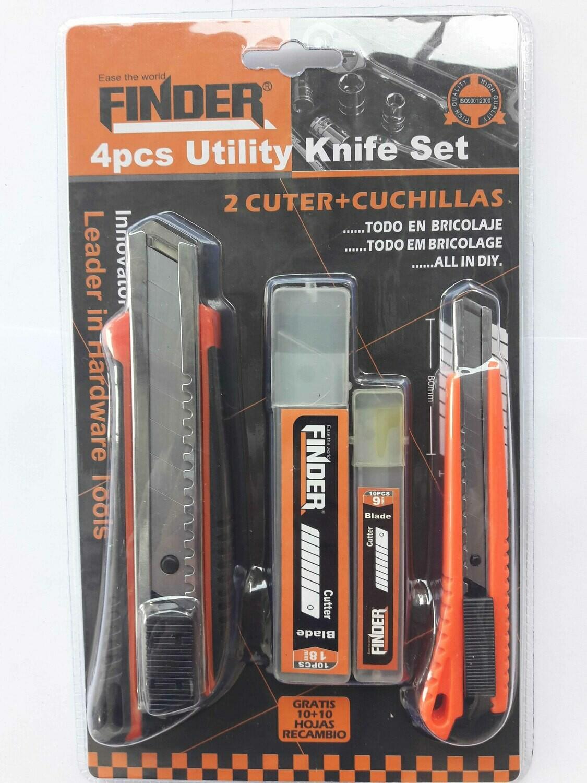 Դանակ պաստառի 2հատ (2 պահուստային դանակով) FINDER®