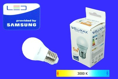 Էլ.լամպ LED Wellmax  05W (G45 3000K)