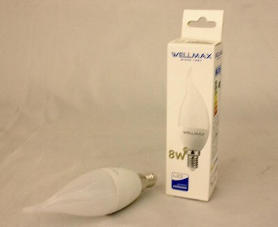 Էլ.լամպ LED Wellmax 8W neutral white ծիծակ (C37 E1