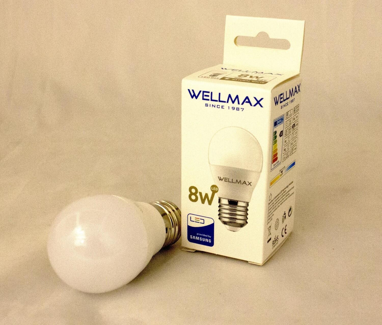 Էլ.լամպ LED Wellmax  08W (G45 4000K)