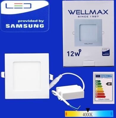 Էլ.պլաֆոն LED Wellmax քառակուսի 12W 4000K
