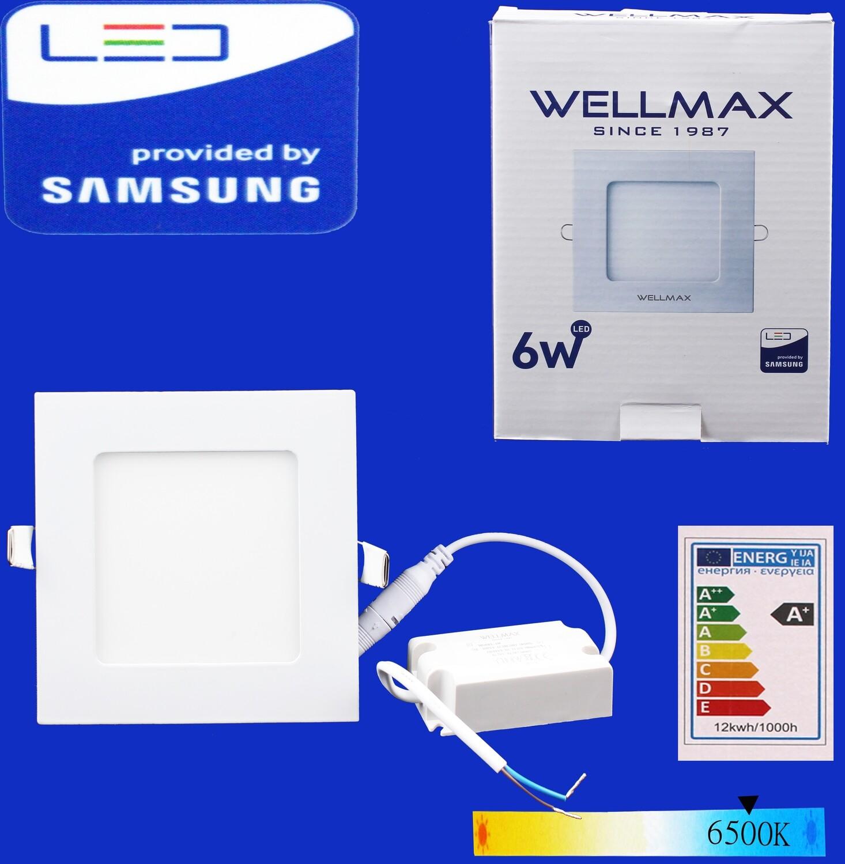 Էլ.պլաֆոն LED Wellmax քառակուսի 6W 6500K