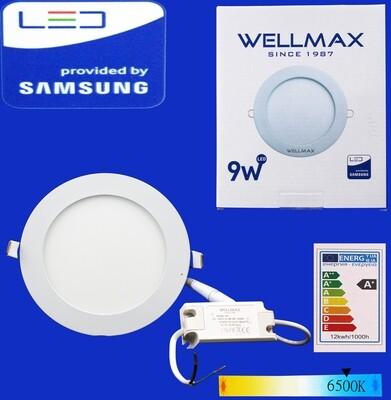 Էլ.պլաֆոն LED Wellmax կլոր 9W 6500K