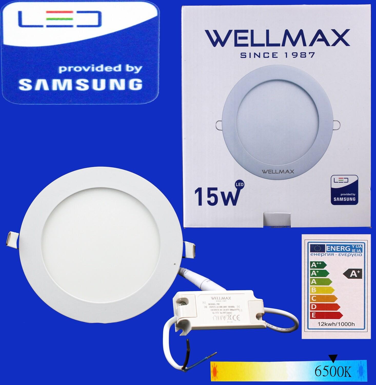 Էլ.պլաֆոն LED Wellmax կլոր 15W 6500K