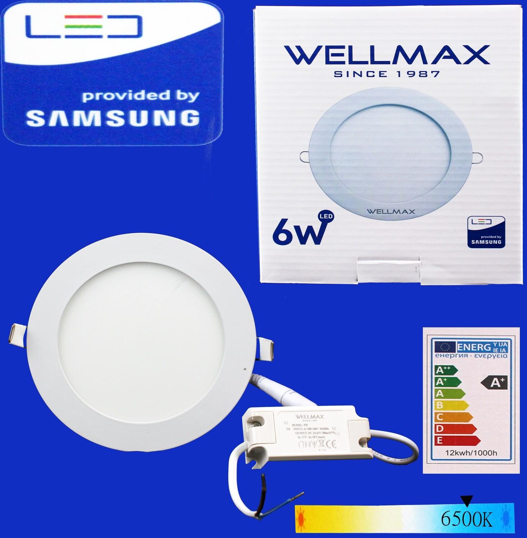 Էլ.պլաֆոն LED Wellmax կլոր 6W 6500K