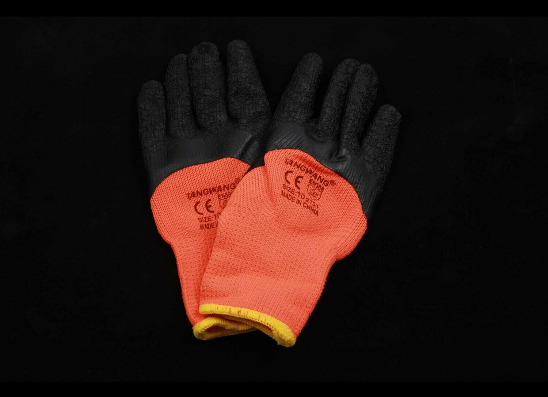Բանվորական ձեռնոց (նարնջագույն, սև, ձմեռային)