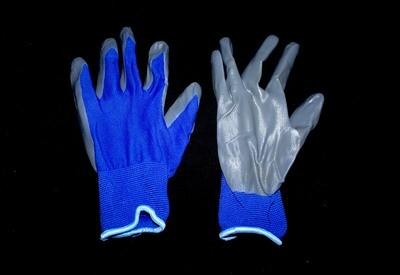 Բանվորական ձեռնոց ((կապույտ,սեռի,բարակ)