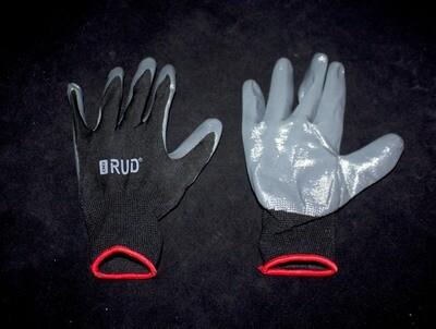 Բանվորական ձեռնոց (մոխրագույն-սև)