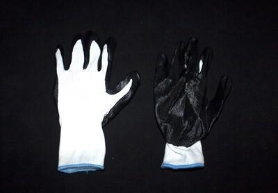 Բանվորական ձեռնոց (սև,սպիտակ բարակ)
