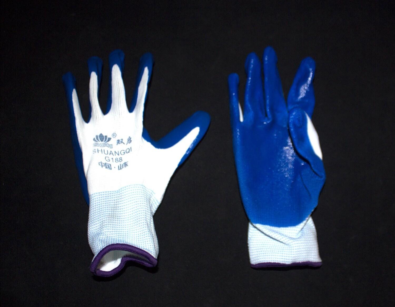 Բանվորական ձեռնոց (կապույտ,բարակ)