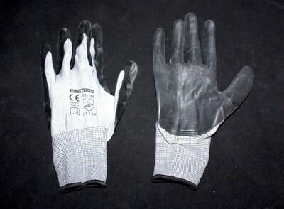 Բանվորական ձեռնոց (մոխրագույն,հաստ,նիտրիլային)