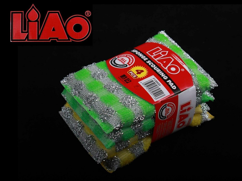 Liao Սպունգ աման լվանալու 4Հատ F130033 13*8,5*1,5